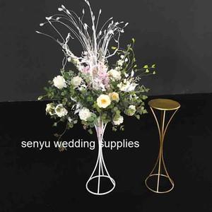 candelabro metallico dorato nuovo stile per supporto centrotavola matrimonio floreale riser floreale, candeliere evento festa nuziale senyu00128