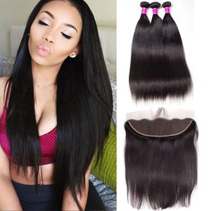 Brazilian Hair Weave Bundles With Frontal Straight Hair Bundles With Closure Human Hair Bundles With Frontal