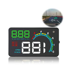Tüm Araç Otomobil İçin D3000 Cam Projektör Aşırı hız RPM Alarmı OBD2 Araç HUD Dijital Kilometre Head-Up Display