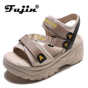 Fujin 2020 scarpe estive sandali della piattaforma delle donne inarcano sandalia estivi sandali casual Scarpe sportive donna Slides mujer 2020