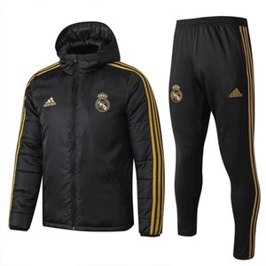 top vente 19 20 Real Madrid mens manteau de coton de football vers le bas sweat à capuche 2019 2020 VINICIUS JR jersey veste de football CITP MODRIC maison loin sportwear