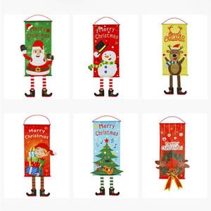 Décorations de Noël pour la maison Porte Décorations de Noël Hanging décorations de fenêtre Hanging Drapeau Cadeaux de Noël Nouvel An Produits