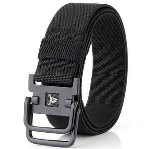 Army Belt Men Combat Tactical Designer Belts For Jeans Pants 2 Ring Buckles Solid Casual Nylon Strap Canvas Waist Belt Men Gift