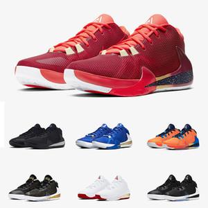 Giannis Antetokounmpo Yakınlaştırma Freak 1 Noble Kırmızı Siyah yanardöner Yunanistan Sneakers 40-46 Amerika İmza Basketbol Ayakkabı Tasarımcısı geliyor