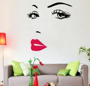 New Audrey Hepburn Sexy Eyes Art Home Decoration Waterproof Window Vinyl Wall Stickers Decals free shipping