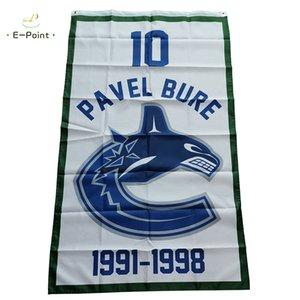 Retirement Flag of Vancouver Canucks 10 Pavel Bure 1991-1998 3*5ft (90cm*150cm) Polyester Banner decoration flying home & garden flag