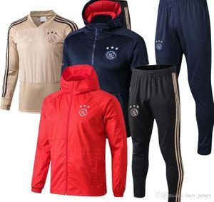 최고 품질 2019 2020 아약스 FC 축구 유니폼 트레이닝 복 18 19 20 maillots de football HUNTELAAR TADIC football tracksuit jacket