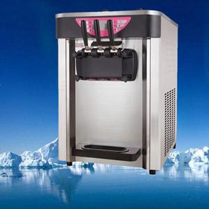 Venta caliente de la tabla helado encima de mini helado suave batido máquina expendedora 3 sabores para hacer helado 21-26L / H