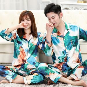 Classique Imprimé Hommes Femmes Pyjama de nuit Mode personnalité charme unisexe Set Casual Couple Intérieur Luxe Nightgown