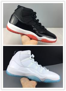 2019 New 11 Bred nero rosso scarpe da basket basse da uomo 11s XI leggende blu scarpe da ginnastica sportive da uomo con box di alta qualità taglia 7-13