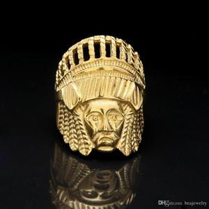 Yeni Retro Tibet Moda Takı Altın Kaplama Mısır Firavunu Halka Mısır King Tut Mısır Firavun Parmak Halkası