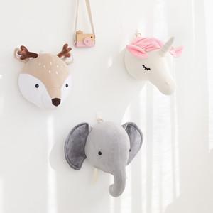 decorazione della stanza peluche animale testa di elefante orso per bambini Nordic cervi decorazione della parete bambole di peluche decorazione della stanza asilo