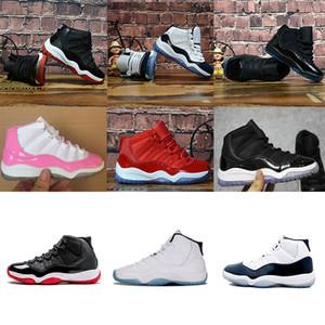 jumpman Nuevos zapatos para niños Concord Legend Gamma azul Space Jam Gris Gimnasio rojo Oro blanco y rosa Niños pequeños Zapatillas de bebé Calzado para niños 28-35