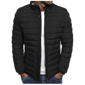 Erkekler Coats Ve Ceketler İçin Sonbahar Kış Sıcak Coat Fermuar Sıcak Ceket Packable Işık Üst Kalite Coat Abrigo Hombre tutun