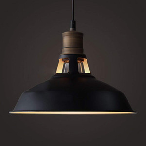 JML Vintage Style Black Pendant Light with Metal Shade in Matte-Black Finish-Modern Industrial Edison Style Hanging for Kitchen Ceiling lamp