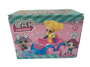 kid Electric universal car girl cartoon doll 6.2inch lights music spinning electric car DHL FREE