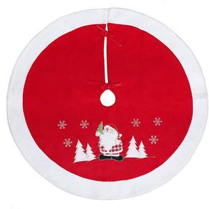"""35,4"""" / 90cm Christmas Tree Skirt Avec adorable Père Noël Noël vacances Décorations festives avec Themed Décorations De Noël JK1910"""