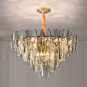 Postmodern Crystal Chandelier Personality Dining Room Light Nordic Living Room Bedroom Decoration Crystal Light Atmospheric Pendant Lamps