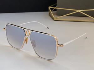 Mode-Sonnenbrille 114 Metall quadratische Rahmen populäre Art Sonne mit Fall Top-Qualität UV400 Schutz Objektiv Einfache Atmosphäre eyewear Gläser