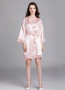 Spring Summer Designer Lace Hollow Out Bandage Sleepwear Females Fashion Casual Underwear Womens Pluse Size Silk Pyjamas Robes