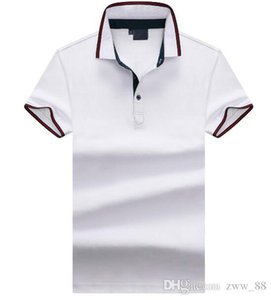 19ss New Arrival hliantao brand Summer Style Short Sleeve Letter Color block Polo Shirts Brand Mens Polos shirt plus size M-XXL 4281