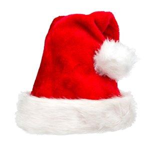 Rouge Père Noël Chapeau ultra doux en peluche de Noël Père Noël Cosplay Chapeaux Décoration de Noël Enfants adultes Fête de Noël Chapeaux Cap DBC DH2607