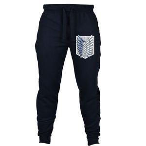 Japón anime Attack on Titan Shingeki no Kyojin pantalones Anime Cosplay Joggers Cosplay Traje de hombres Pantalones de chándal
