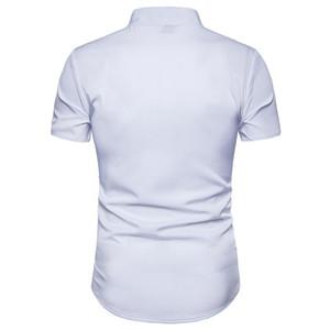 كم صيف بلايز عارضة ملابس رجالي التطريز الصلبة اللون رجال اللباس قمصان طباعة زهري قصير
