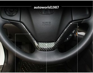 Honda CRV 2012-2016 için ABS Karbon Fiber Stil U direksiyon süslemeleri