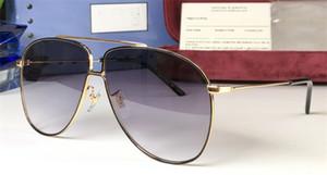 Atacado novo designer de moda óculos de sol 0440 piloto de metal simples quadros de estilo de alta qualidade óculos ao ar livre UV400 selvagens e generosos