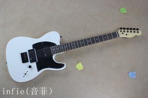 frete grátis HOT! Alta qualidade de corpo contínuo F tele Ameican padrão Branco Guitarra elétrica em estoque
