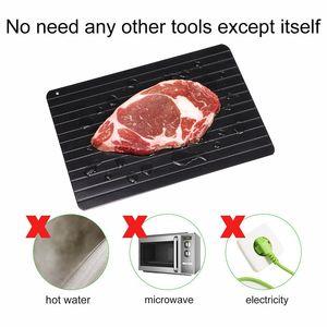 Biftek için Hızlı Buz çözme Tepsi Kurulu Çözülme Dondurulmuş Gıda Et Meyve Hızlı Buz çözme Plakalı Kurulu Defrost Tepsi Mutfak alet