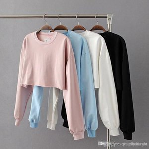 Free Shipping Europe and the United States women leaking sweater short paragraph loose sweater women fall new ladies long sleeve shirt