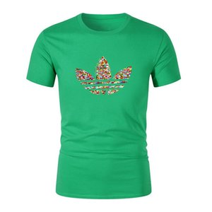Мужская дизайнерская футболка New LOGO Brand Hot T-Shirt Мужская хип-хоп 100% хлопковая летняя футболка для скейтборда Boy Top Skateboard