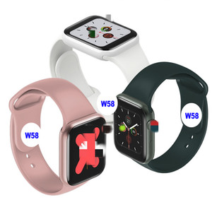 Teste a temperatura do corpo W58 relógio inteligente W58 Homens relógio inteligente IP67 Série impermeável 5 waterpoof Watchs Heart Rate Smartwatch Homens