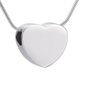 IJD9942 Großhandel oder Einzelhandel Kleine Blank Slider mini Herz Urn Halskette Engravable Memorial Asche Schmuck Charm-Andenken für Frauen