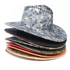 Occidental Knight Sombreros Camo los sombreros de ala de los hombres retro Caps parasol Vaquera del borde de los sombreros de Mongolia de la pradera de verano al aire libre Turismo Headwear C6931