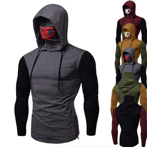 Marque MKASS Hot Vente homme Pulls Masked Réunissant capuche Hoodiess Pull Hoddie Sweat Taille Plus