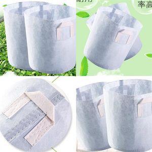 Nonwovens Grow Bags Plant Bag Pot Garden Transplant Supplies Moda Respetuoso del medio ambiente Resistente al desgaste Venta caliente 14yy UU