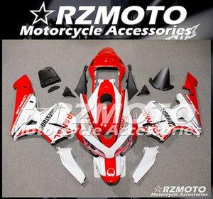 Высокое качество (литье под давлением) Новый ABS Мотоцикл Полный комплект обтекателя, пригодный для CBR600RR F5 2004 2003 пользовательских Белый Красный