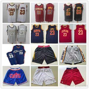 Mens ClevelandCavaliersGerileme Formalar Lebron 23 James Basketbol Şort Basketbol Formaları Sarı Kırmızı Beyaz Mavi Gri