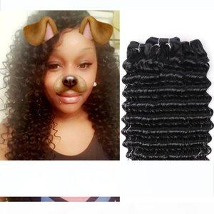 Deep Wave Brazilian Hair Weave 4 Bundles Non Remy Hair Weaving Human Hair Extensions 1B Natural Black 100g Bundle