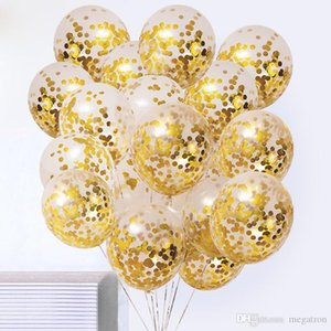 50pcs lot Clear Balloons Gold Star Foil Confetti Transparent Balloons Happy Birthday Baby Shower Wedding Party Decorations