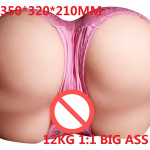 Factory wholesale 14KG High quality Solid TPE Real life-size Big Ass Sexy Hip sex Love doll with Vagina Anus Masturbation sex toys for men