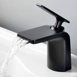 Banyo Krom / siyah ORB / Altın Ev Geliştirme In-duvar pirinç Havzası musluklar gizli Mikser dokunun tek kolu sıcak ve soğuk dokunun