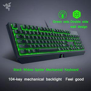 Razer Gaming impermeable teclado mecánico teclado retroiluminado RGB de membrana mecánica ergonómico teclado BlackWidow mecánica CS Ir LOL Dota