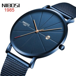 Nibosi трансграничная электронной коммерции в Европе и Америке мужчины и женщины тенденции моды пара сеть с отдыха кварцевых наручных часов