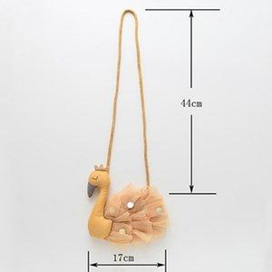 New Cute Children Handbag Cotton Cartoon Swan Bag Girls Fabric Diagonal Baby Cute Animal Coin Purse