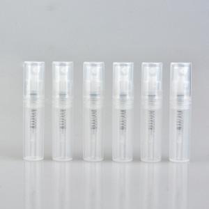 2ml Temizle Plastik Sprey Şişe, Mini plastik Numuneler Vial, Parfüm Bölünmüş Atomizer Ücretsiz Kargo F2017446 Şarj