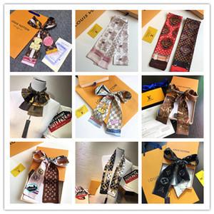 bolso de la cinta del pelo del lazo multifuncional arco pañuelo nuevo de alta calidad de lujo de diseño cinta de tela de seda imitada